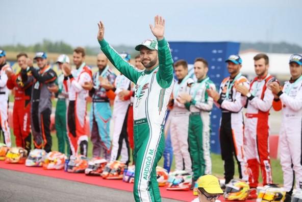 Marco Ardigo: salut champion ! (Photo Southgardakarting.it)