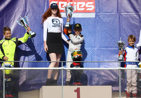 Podium final de la IAME Series France en Minime