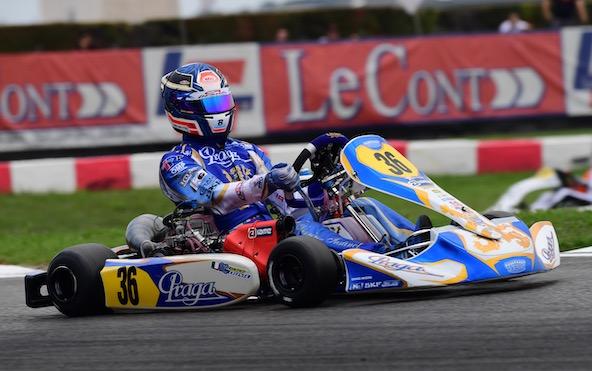 Francesco Celenta, 10e avec son moteur IAME.