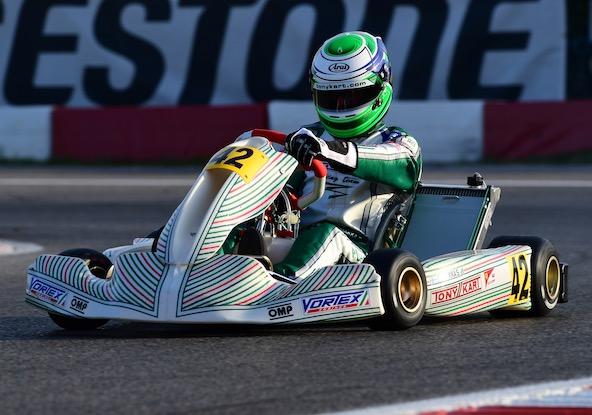 4e, le Finlandais Simo Puhakka décroche le meilleur résultat pour Tony Kart et Vortex. Le podium était proche.