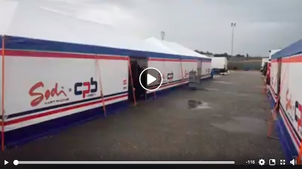 Un large espace réservé à CPB Sport dans le paddock de Lonato