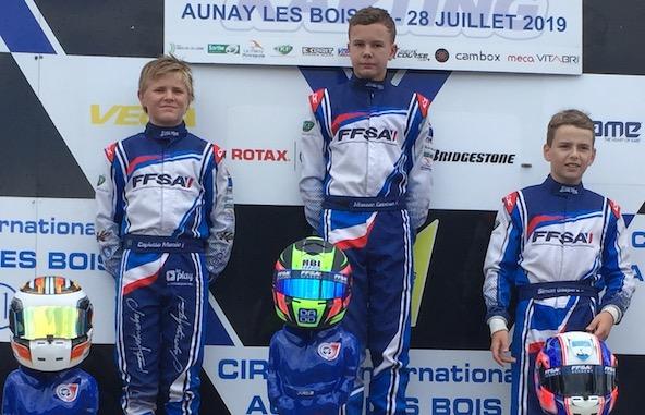 F4 en 2020 pour le Champion de France Esteban Masson et Trophée Académie pour ses dauphins Macéo Capietto (à g.) et Gaspard Simon.