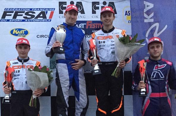 KZ2-Victoire et titre a Angerville pour Arthur Carbonnel