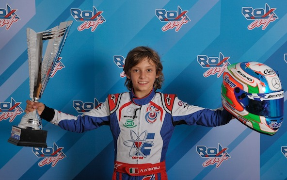 Récent vice Champion d'Europe OK-Junior, Kimi Antonelli s'est imposé en 2018 en Rok Mini