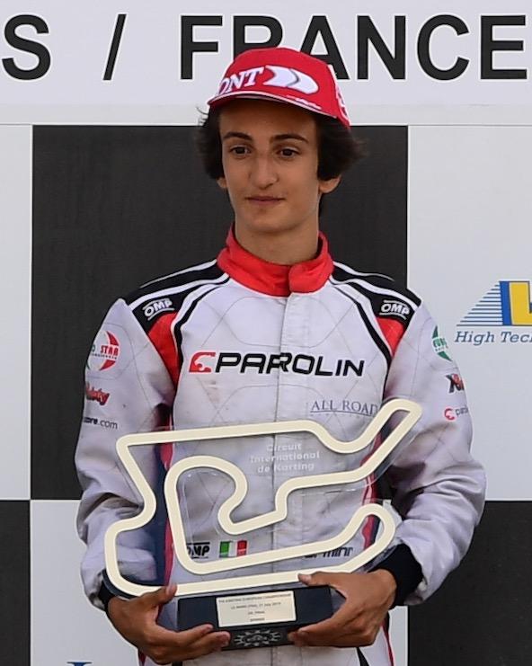 Titre merite de meilleur rookie en OK pour Gabriele Mini-3
