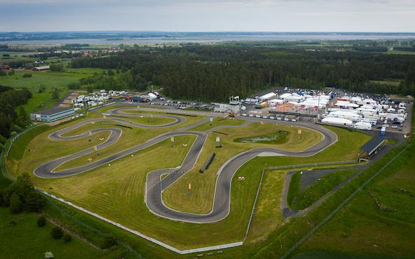 Kristianstad en Suède sera l'un des circuits utilisés, deux semaines avant la manche du Championnat d'Europe (Photo CIK-FIA / KSP Reportages)