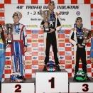 Jean Nomblot sur le podium KZ2 au Trophée de l'Industrie