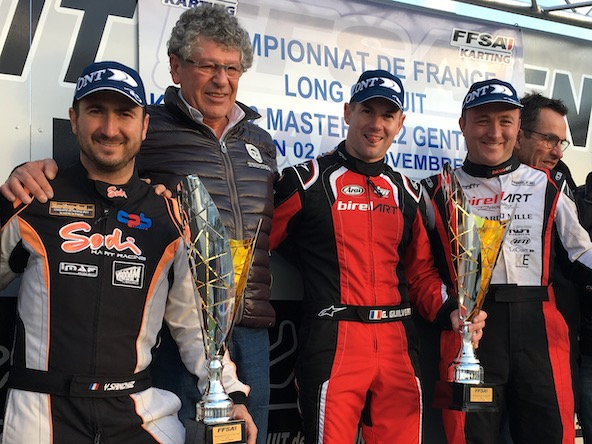 Podium du Championnat de France Long Circuit KZ2 Master