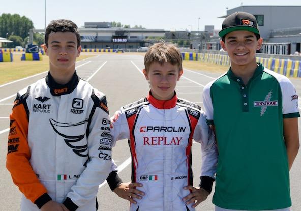 Ici avec Sebastian Montoya (à droite), Lorenzo Patrese et Brando Badoer (au centre) seront convoqués