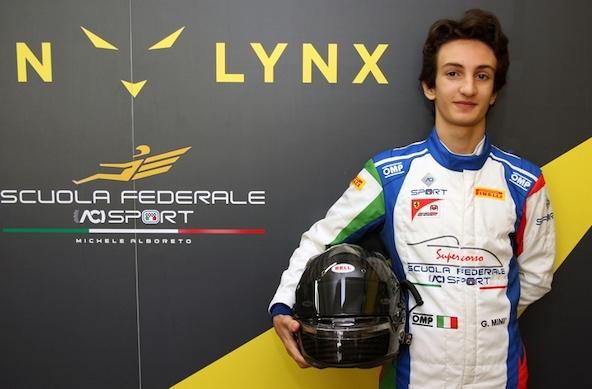 Le Champion italien Gabriele Mini deja a l aise en monoplace-1