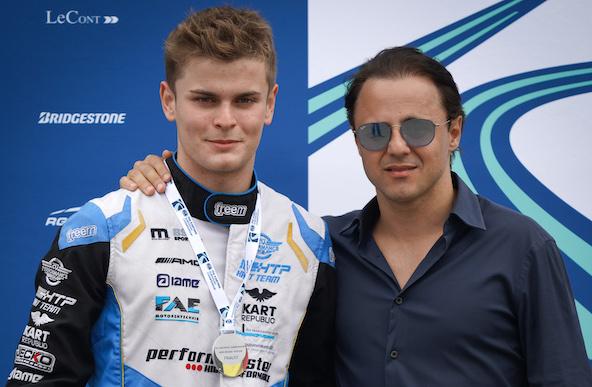 Felipe Massa est ici avec le Champion d'Europe et double Champion du Monde OK Lorenzo Travisanutto