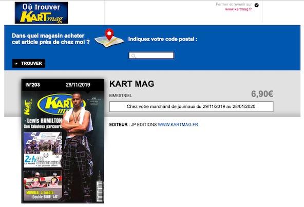 Pour savoir ou trouver Kart Mag suivez le lien