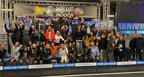 Xavier Pompidou un pied dans le kart et l auto au PKI avec des stars-1