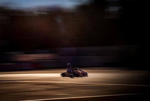 Giuseppe Palomba, de plus en plus à l'aise avec son Birel ART, a décroché le 2e temps en KZ2.