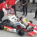 George Russell s'éclate en kart à Lonato, avec Alex Abon