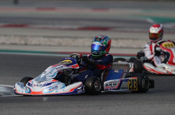 L'Italien Kimi Antonelli, sous contrat AMG, avec son nouveau look 2020.