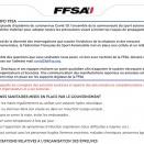 La FFSA communique à propos du Covid-19