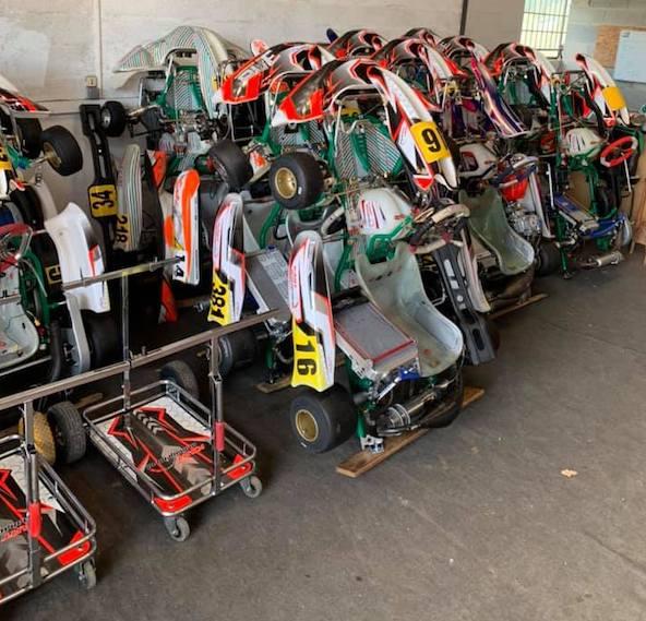 Voilà, les bébés sont aux chaud en attendant la reprise des courses que l'on espère rapide (Maxime Bailleul de Kart Management)