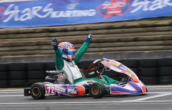 Willy Runget, vainqueur de l'Open Kart à Salbris avec Kart Runner