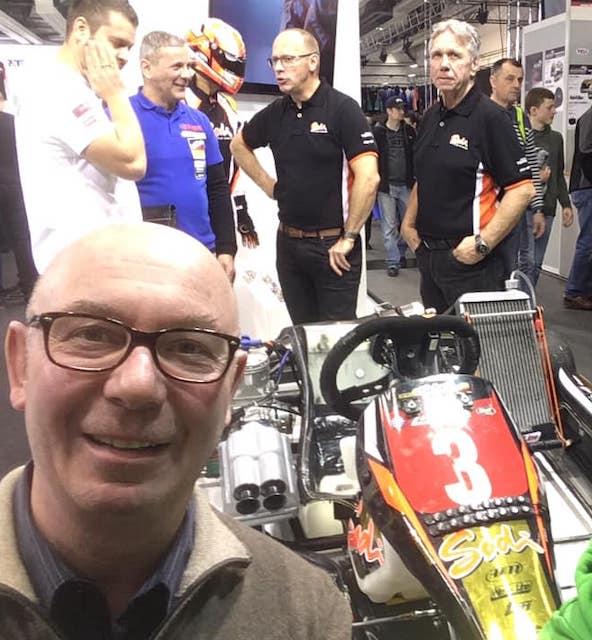 Très attaché à la marque Alpha Karting, Patrick Damary venait également de compléter sa flotte de kart avec Sodikart, qu'il était venu rencontrer au salon du kart à Offenbach