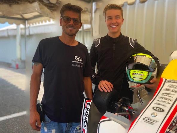 Luca Bosco et Alessandro Manetti aux couleurs Charles Leclerc