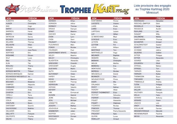 Trophee Kart Mag a Mirecourt-Engages provisoires et horaires-2