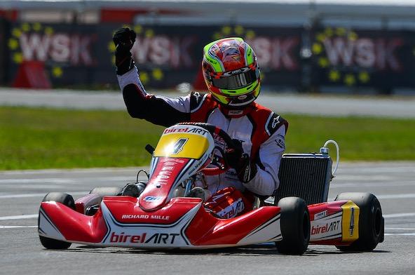 WSK Euro Series KZ2 1-3 a Sarno-Cavalier seul de Longhi-1