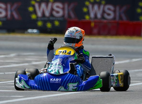 Alfio Spina, vainqueur en OK-Junior