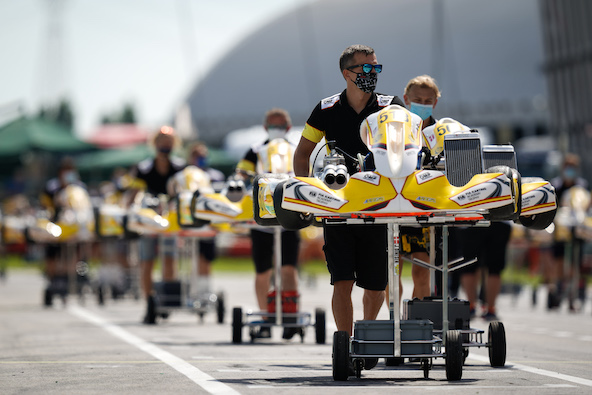 Le kart vainqueur de Connor Zilisch à l'Académie