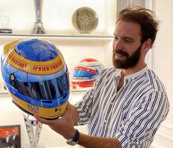 Un casque avec les couleurs de Fabien Pauchet pour Jean-Eric Vergne