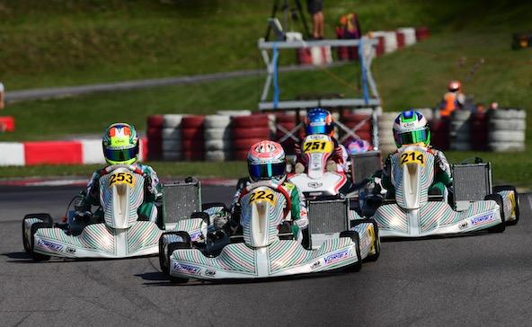 Beaucoup de Tony Kart aux avant-postes et 3e place pour le Britannique Keeble.