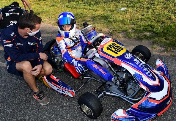 VDK + pilote français: ça continue. Cette fois, c'est le Champion d'Europe OK-Junior 2019 Marcus Amand qui monte sur le podium en OK