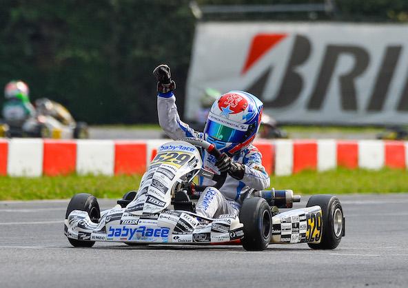 Lammers: un nom fréquent aux Pays-Bas, mais également en sports mécaniques. Ici, c'est René, le Champion 60 Mini