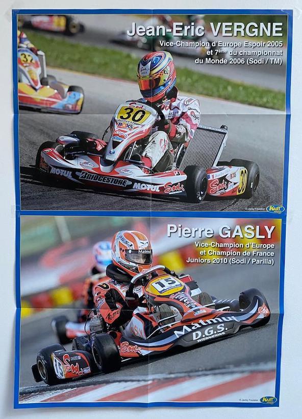 Merci à ce jeune pilote de nous avoir envoyé une photo de son mur sur lequel il a accroché les posters de Kart Mag