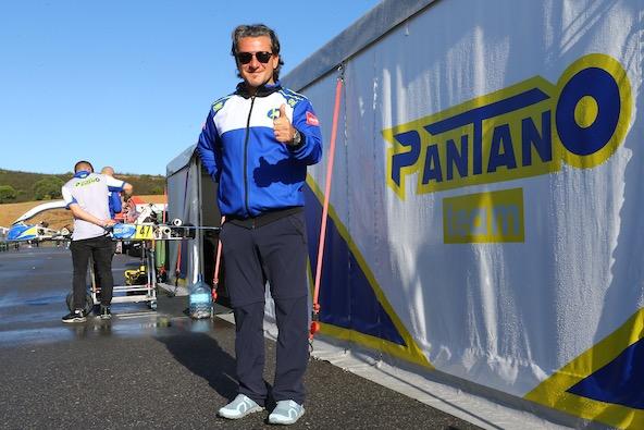 Giorgio Pantano, autre ancien pilote de Formule 1, gère son propre team
