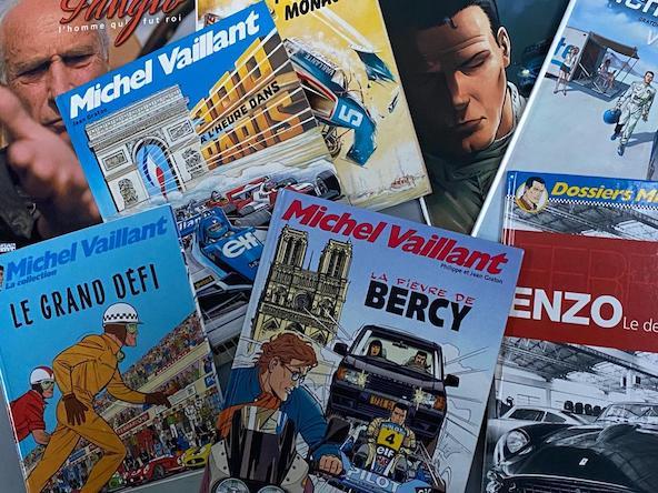 Voici une partie de la collection de BD de Michel Vaillant de notre directeur de publication, Jacky Foulatier. Sa passion pour les sports mécaniques vient aussi de là...