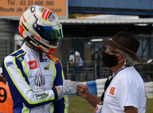 Andréas Hebert avec son Président de club Claude Gripon