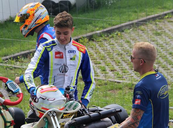 Andreas Hebert avec l'ancien pilote belge Sébastien Bailly, qui a assuré son assistance en 2020
