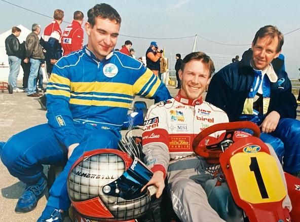 Les Champions de France d'Endurance 1998, de g. à dr., Wilfrid Gainié, Nicolas Mettetal et Michel Lartigue