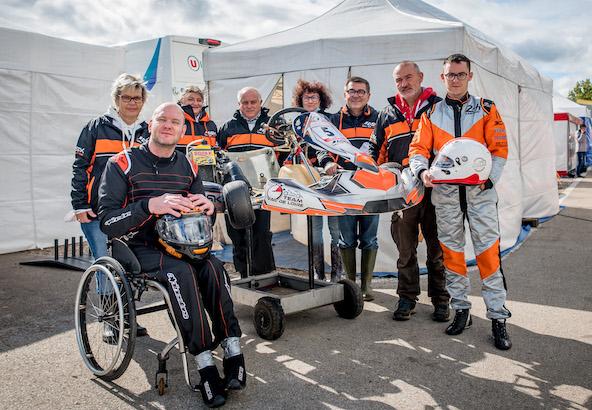 L'ASK Val de Loire présente à Septfontaine en 2020 lors du Championnat de France Handikart