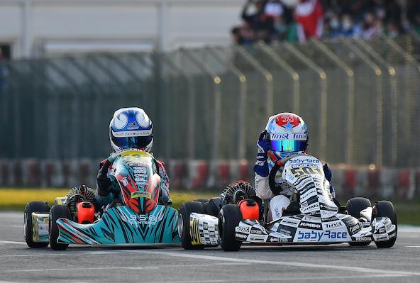 En 60 Mini, le duel TM-IAME ne fait sûrement que commencer. Lammers et IAME ont remporté la première manche, mais Olivieri n'était pas loin avec son Formula K-TM.
