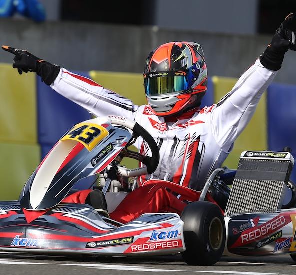 Vainqueur de la Finale Internationale IAME en X30 Master en 2019 (ici au Mans), Johan Renaux a également remporté la Coupe de France KZ2 au Mans en 2017. Il a aussi brillé en Promo, ICA ou même KFS. Vous avez dit éclectique?