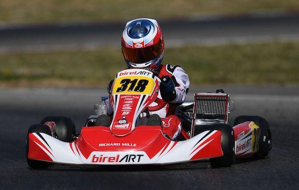 Matteo Spirgel, 14e en OK-Junior (Photo Birel Art)