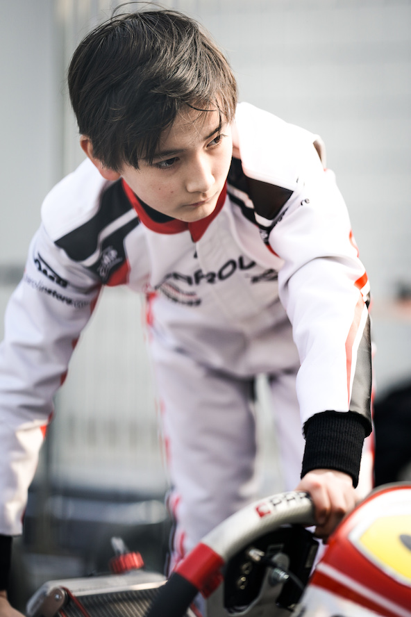Top-10 au général pour le Français Enzo Deligny en OK-Junior (Photo Parolin Motorsport / KSP Reportages)