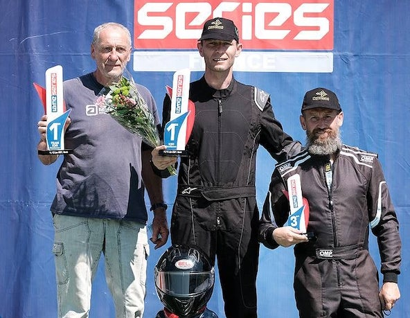 Victoire de Matthieu Bourdon en KZ2 Gentleman