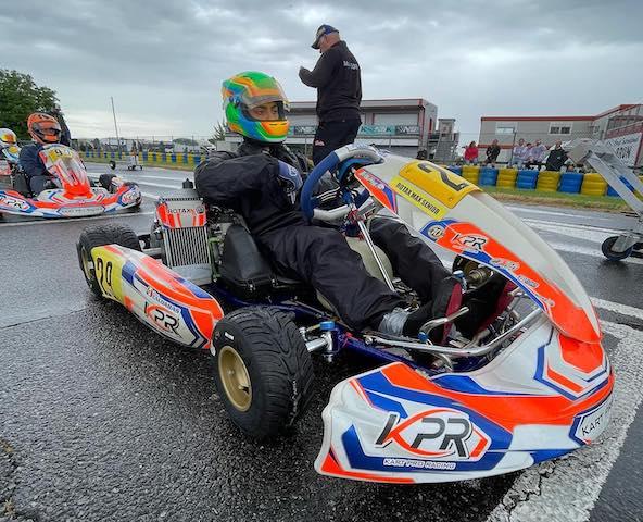 Victoire d'Enzo Caldaras dans la relevée catégorie Rotax Senior