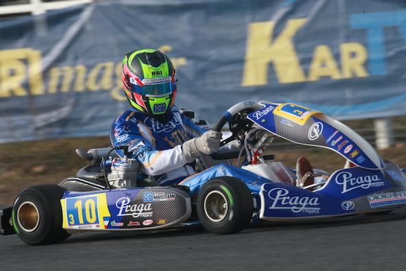 Esteban Masson lors de sa participation à l'Open Kart à Salbris en 2020 (Stars of Karting)
