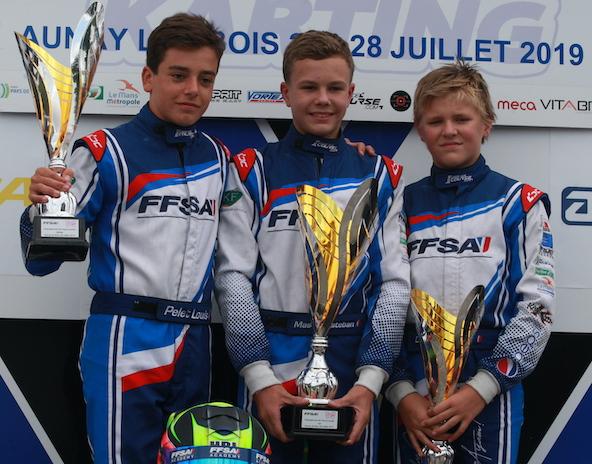 2019: année du titre de Champion de France Junior FFSA Academy (ici au centre)