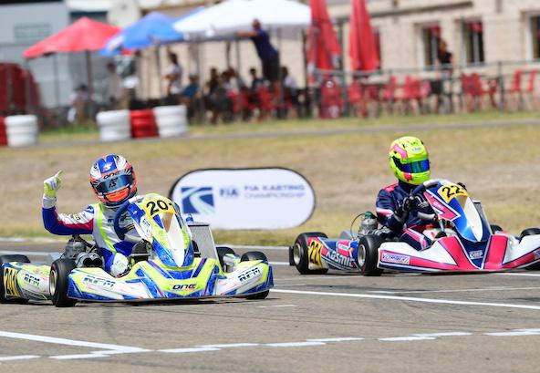 Euro CIK-FIA: Verbrugge et Bernier s'illustrent en OK-Junior