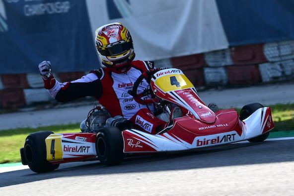 Riccardo Longhi, Champion d'Europe KZ 2021